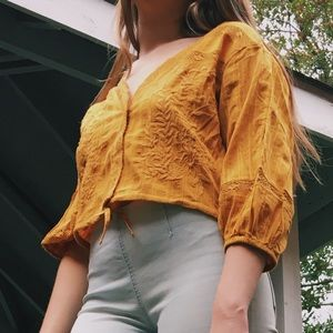 FREE PEOPLE gold top size S